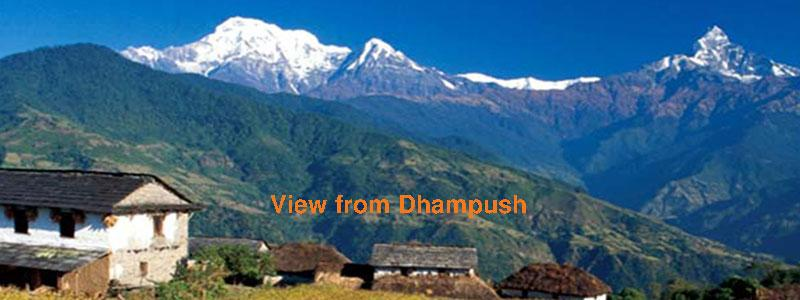 View from Dhampush