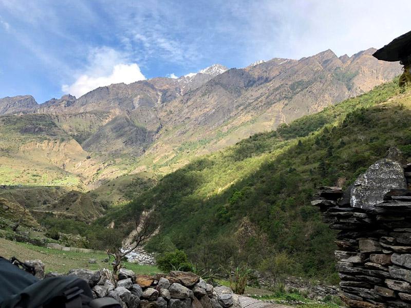 Jagat village in Manaslu Trekking
