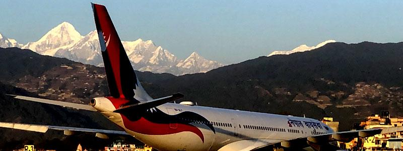 You can see mountain from airport of Kathmandu.