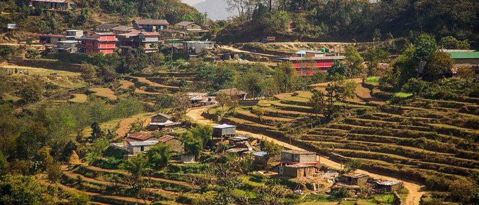 Local village along the way to Mardi himal Trekking