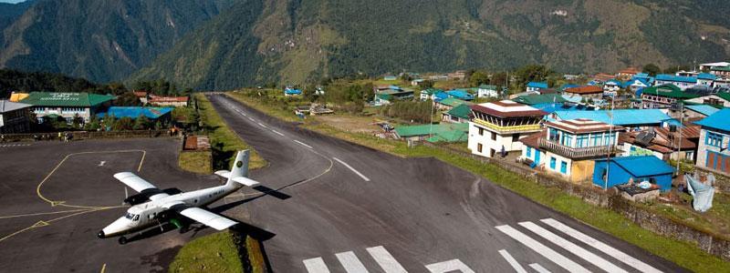 Lukla airport of Everest trek