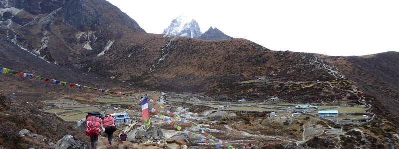 Machhermo village, in Gokyo trek