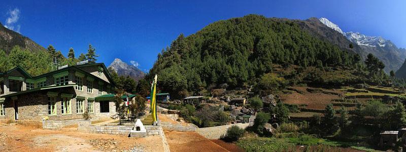 Manju village in Everest