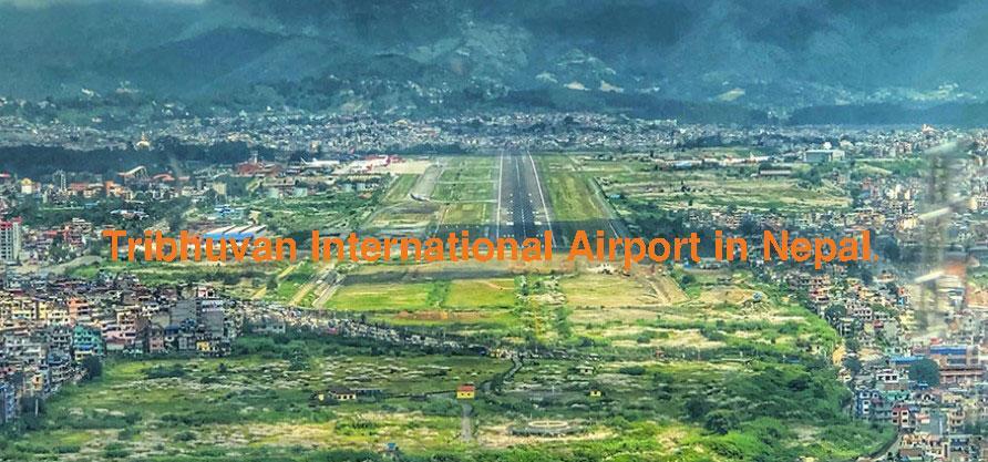 The runway of Nepal international airport.
