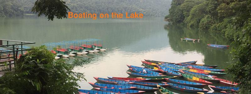 Boating on the Phewa lake