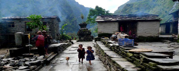 Trek to Philim village