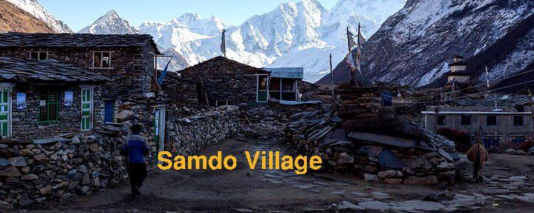Samdo village Manaslu