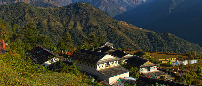 Sirding Village in Mardi Himal trekking Photo