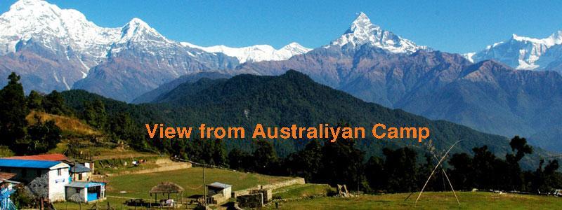 View from Australliyan Camp Pokhara