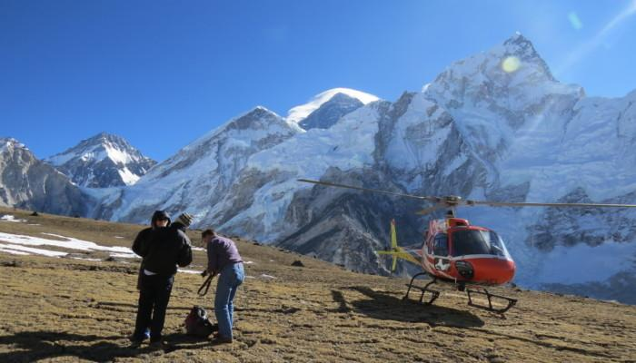 Kalapathar Helicopter Landing