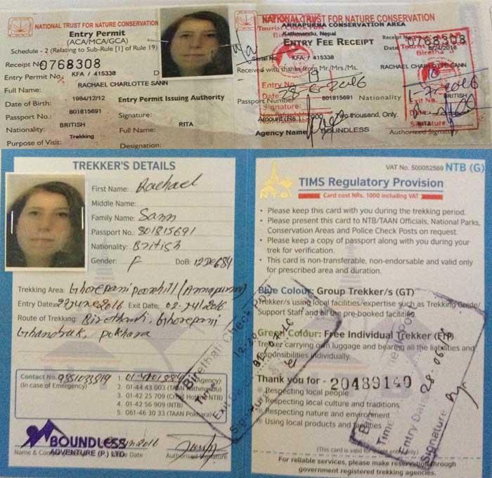 Nepal Trekking and TIMS Permits Photo